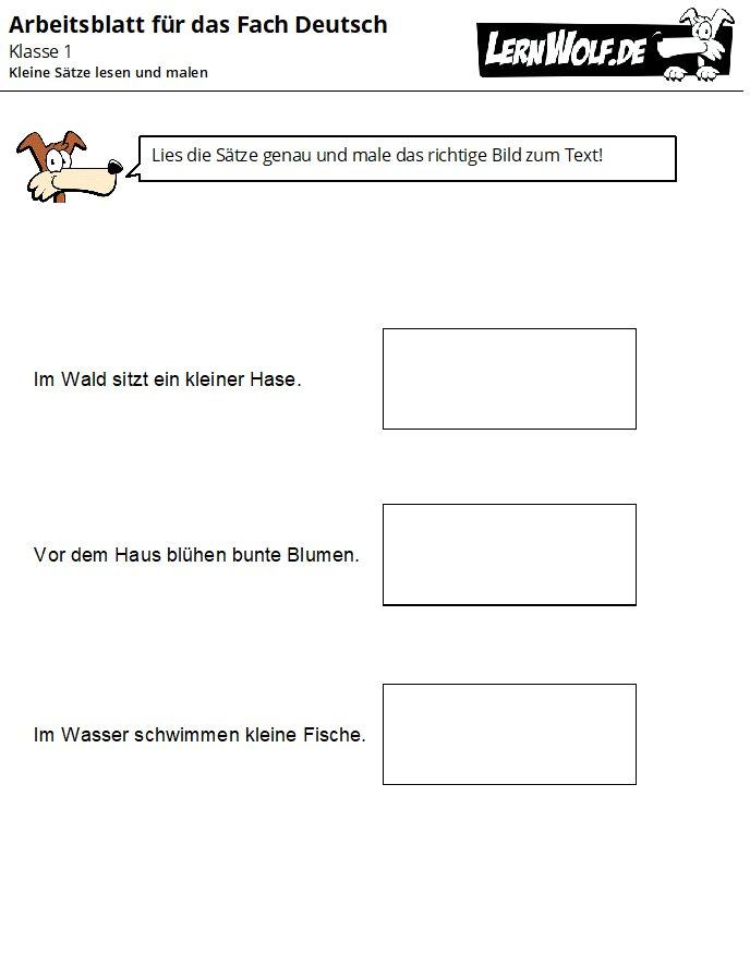 Arbeitsblatt Biene Klasse 1 : Übungen deutsch klasse kostenlos zum download lernwolf