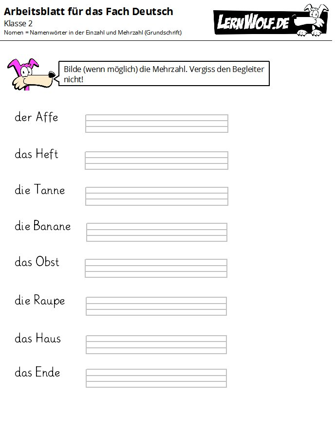 220bungen deutsch klasse 2 kostenlos zum download lernwolfde