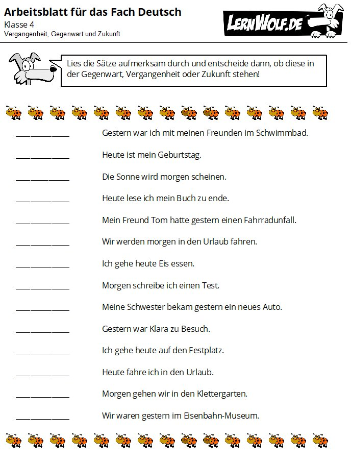 Arbeitsblatt Deutsch Klasse 4 : Übungen deutsch klasse kostenlos zum download