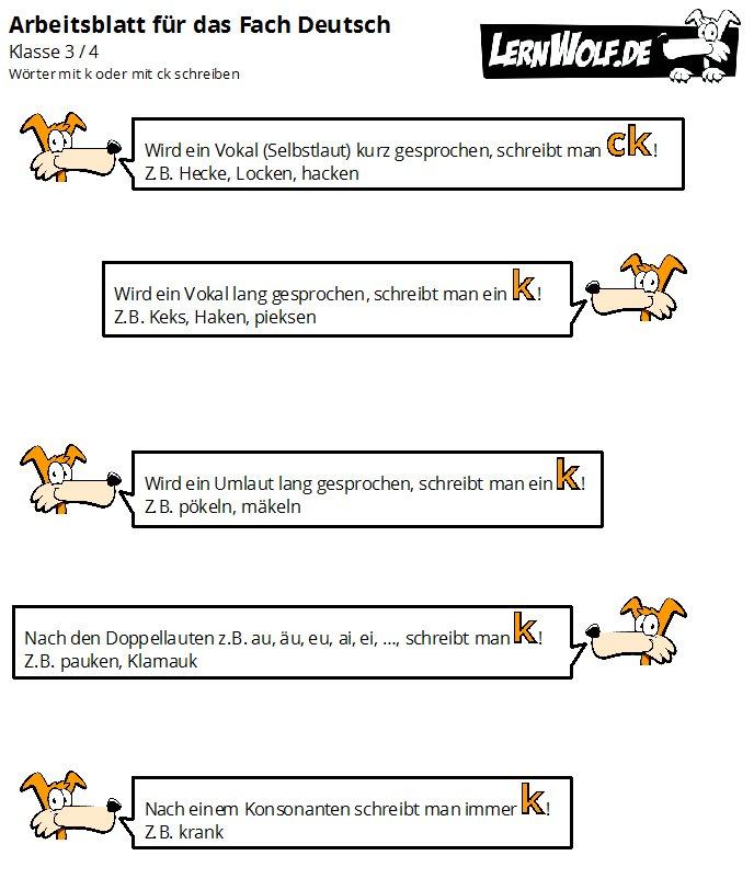 übungen Deutsch Klasse 3 4 Kostenlos Zum Download Lernwolfde