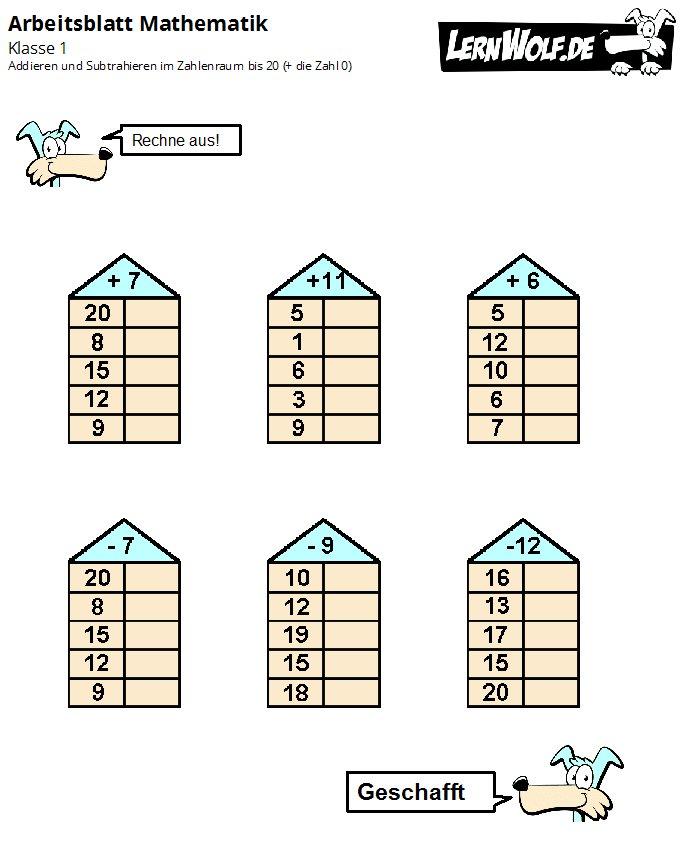 Arbeitsblatt Kunst Klasse 1 : Übungen mathe klasse kostenlos zum download lernwolf