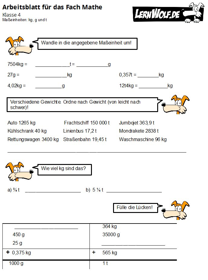 Arbeitsblatt Längen Umwandeln : Übungen mathe klasse kostenlos zum download lernwolf